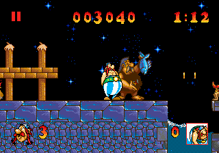 Asterix and the Great Rescue (USA) In game screenshot
