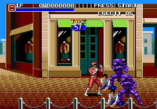 Mighty Morphin Power Rangers - The Movie (USA) In game screenshot