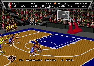 NBA Action '94 (USA) In game screenshot