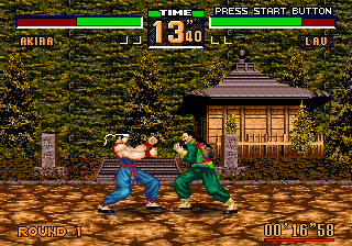 Virtua Fighter 2 (USA, Europe) In game screenshot