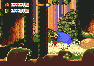 World of Illusion Starring Mickey Mouse and Donald Duck (USA) In game screenshot