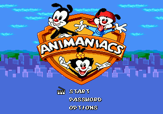 Animaniacs (Europe) (En,Fr,De) Title Screen