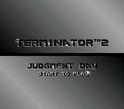 T2 - Terminator 2 - Judgment Day (USA, Europe) Title Screen