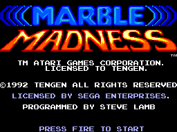Marble Madness (Europe) Title Screen