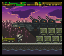 Front Mission Series - Gun Hazard (Japan) In game screenshot