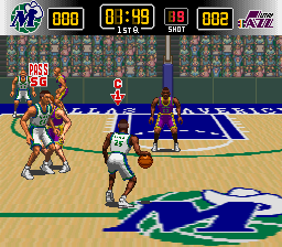 NBA Jikkyou Basket Winning Dunk (Japan) In game screenshot