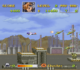 U.N. Squadron (USA) In game screenshot