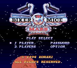 Biker Mice from Mars (USA) ROM