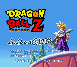 Dragon Ball Z - La Legende Saien (France) Title Screen
