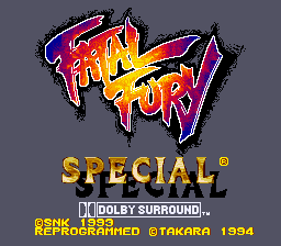 Fatal Fury Special (USA) Title Screen