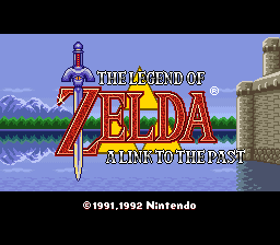 Legend of Zelda, The - A Link to the Past (USA) Title Screen