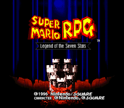 Super Mario RPG - Legend of the Seven Stars (USA) Title Screen