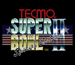 Tecmo Super Bowl II - Special Edition (Japan) Title Screen