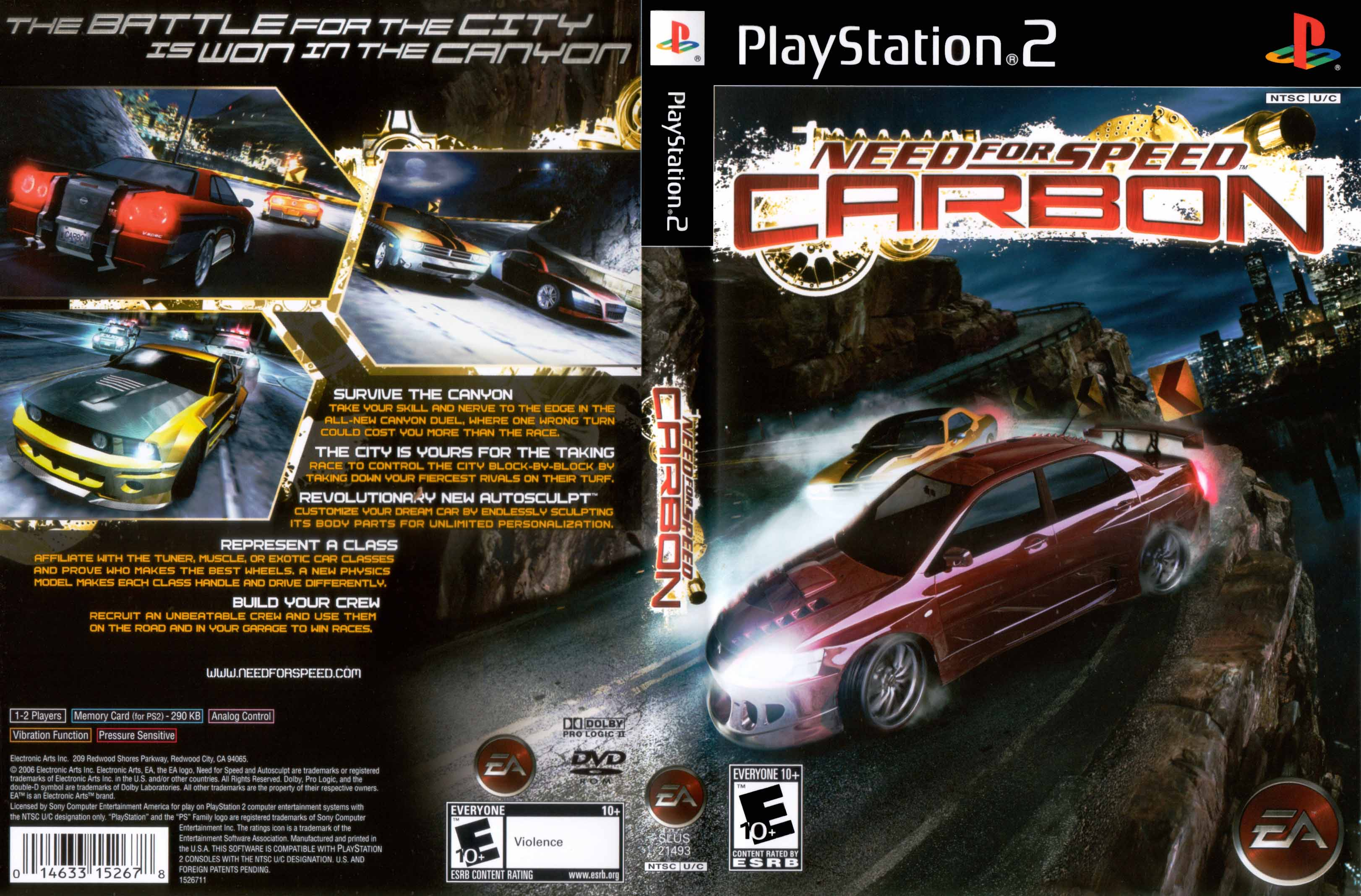 Need for Speed - Carbon (Europe) (En,Nl,Sv,Da,Fi,Pl,Hu,Cs) ISO Ps2 Need For Speed