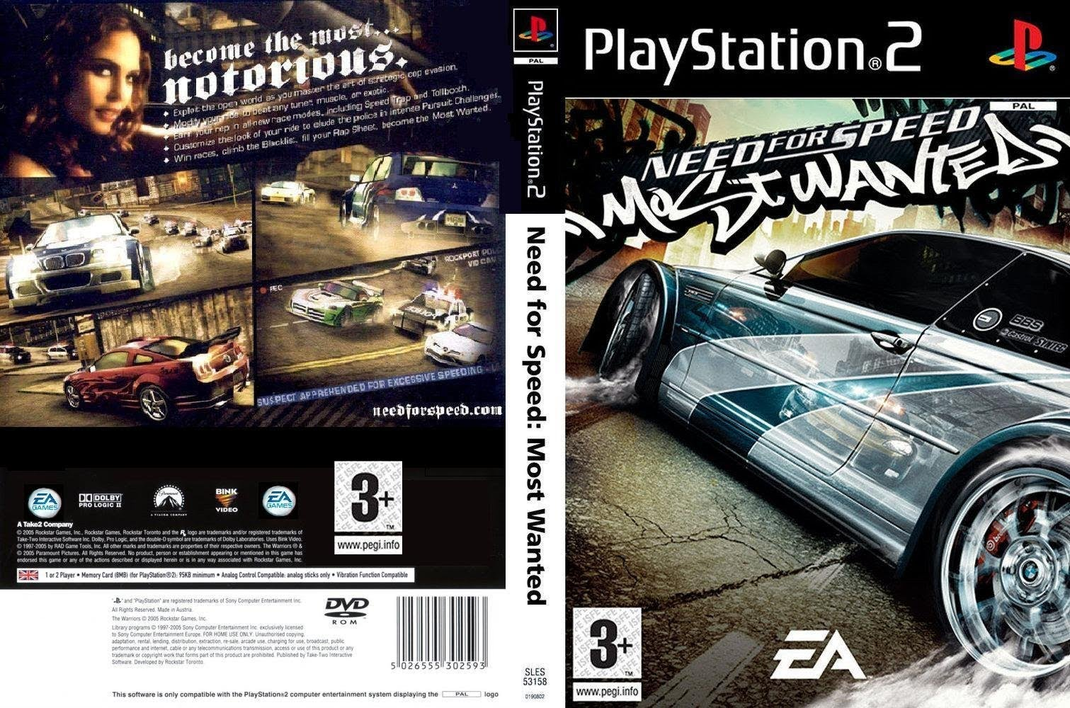 Need for Speed - Most Wanted (Europe) ISO Ps2 Need For Speed
