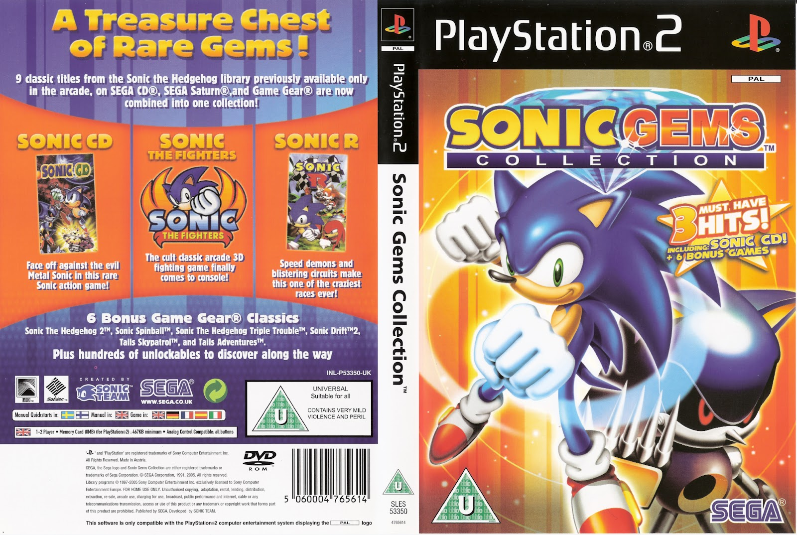 ANÁLISE: SONIC GEMS COLLECTION (PS2)