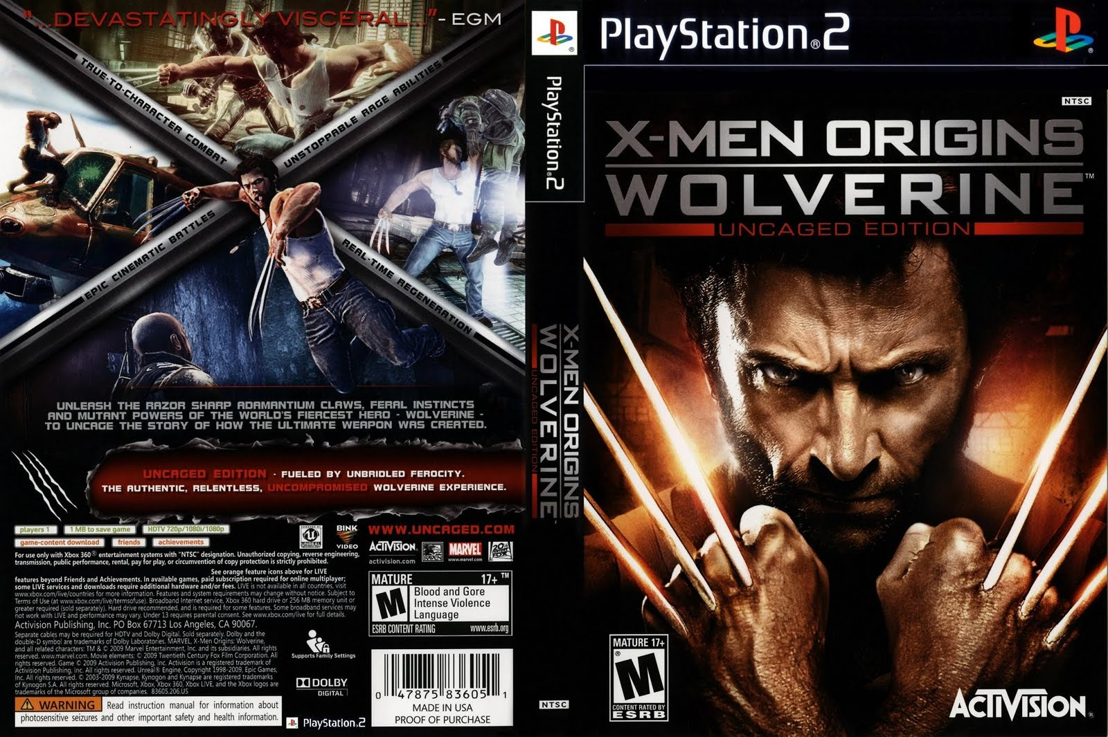 X-Men Origins - Wolverine (Europe) (De,Es,It) ISO < PS2 ISOs ...