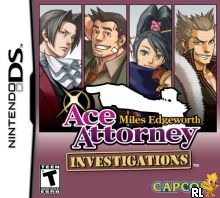 Ace Attorney Investigations - Miles Edgeworth (U) Box Art