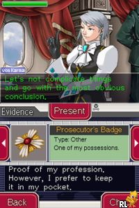 Ace Attorney Investigations - Miles Edgeworth (U) Screen Shot